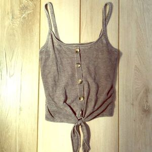 Solid Gray Tank with Buttons